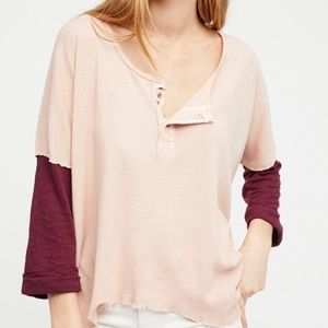 Free People | We the Free Star Henley Top Small